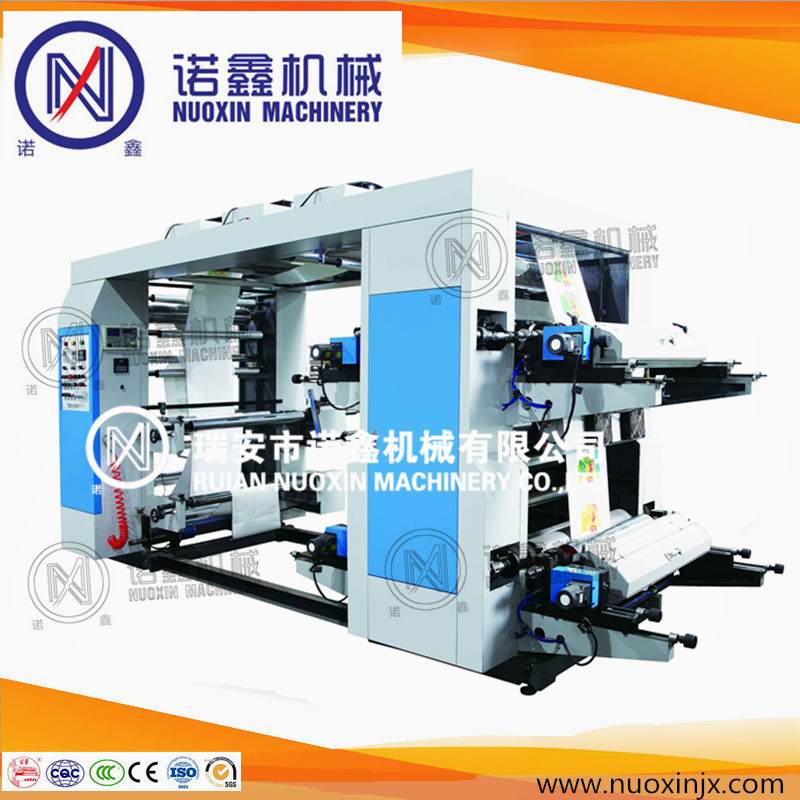 stack type 4 color flexo printing machine for plastic film