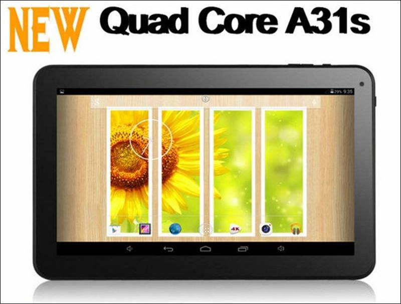 10.1inch tablet PC A31S Quad-core dual camera 1GB/8GB HDD