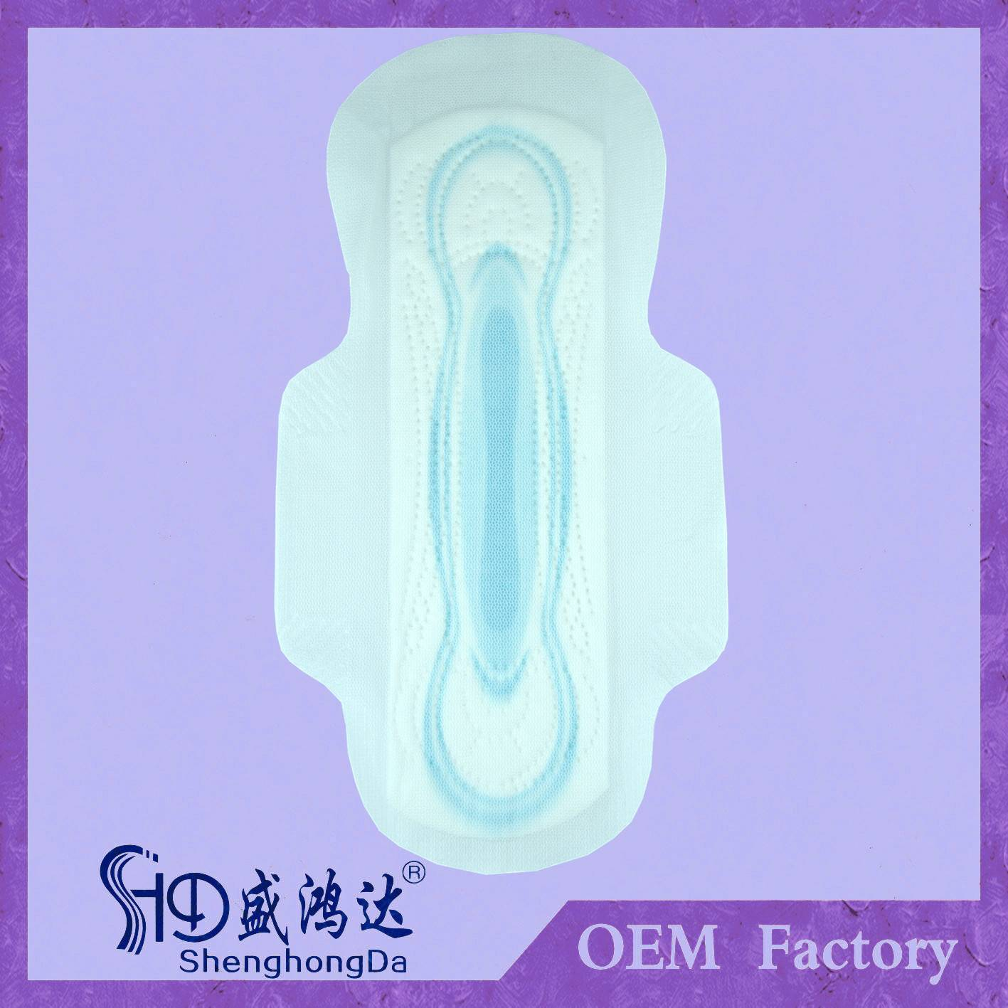 Ultra thin SAP paper sanitary pad/Sanitary lady Napkins with high absorbency