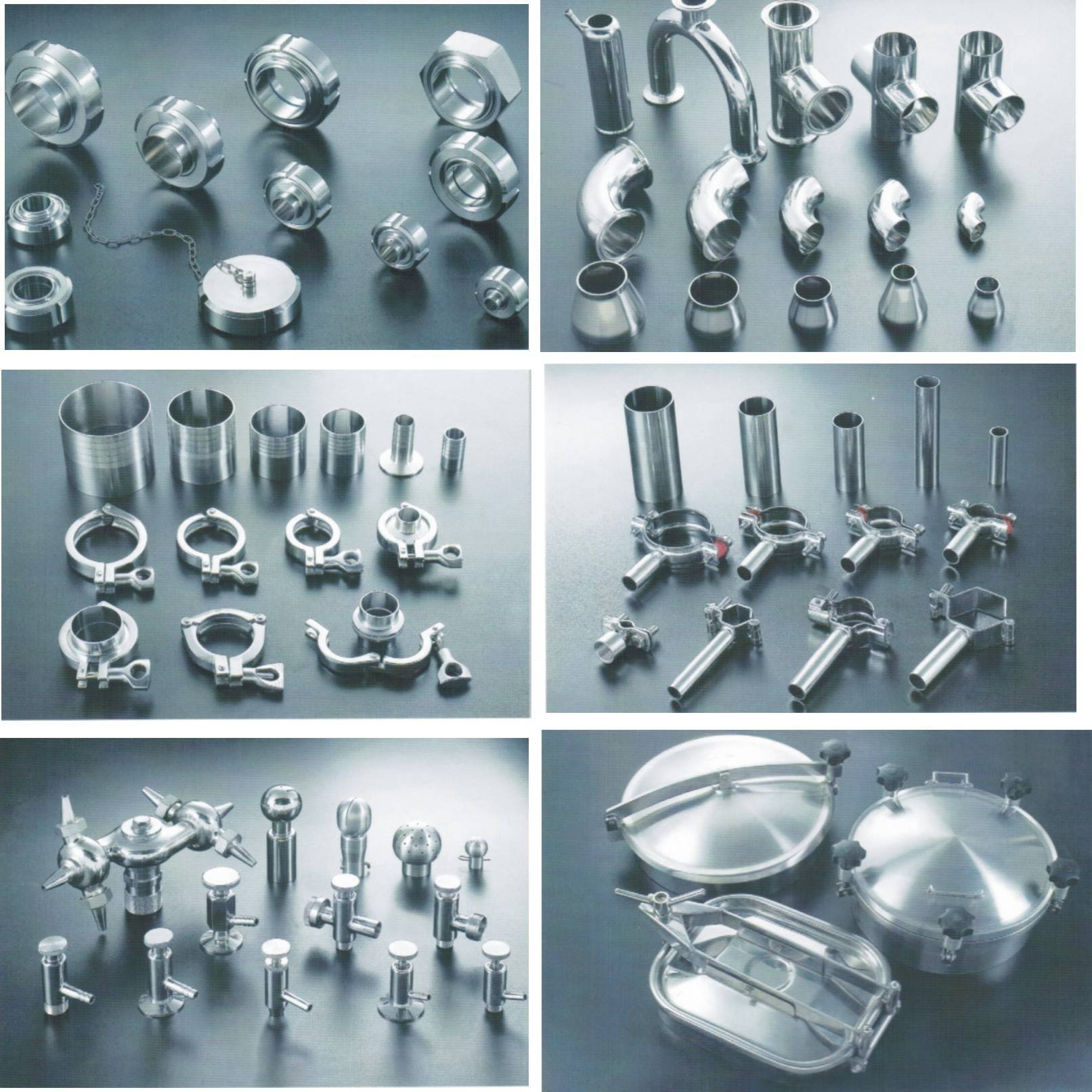 Sanitary stainless steel pipe fittings union elbow clamp