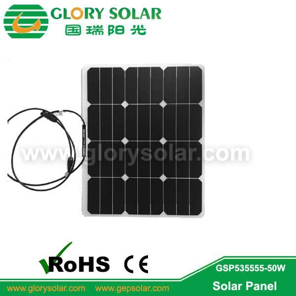 semi flexible SP solar panels - 50W