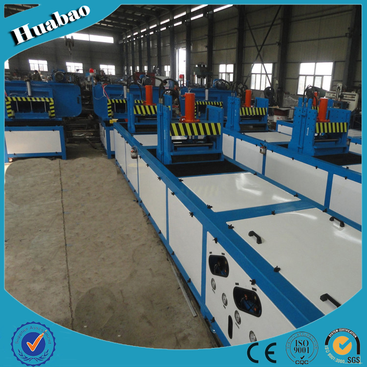 Touch screen hydraulic pultrusion machine