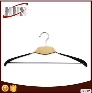 Luxury Chrome-Plated PVC Coated Wooden Hanger