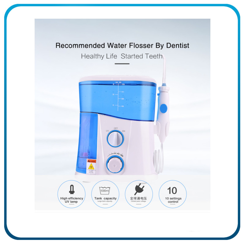 UV Sanitizer Dental Oral Irrigator with 1000ml High-Volume Tank