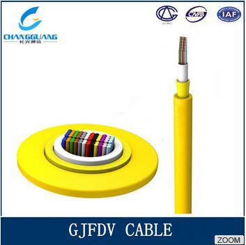 Gjfdv Indoor Fiber Optic Cable Single/Multi Mode Ribbon Optical Fiber Cable Indoor Ribbon Fiber Cabl