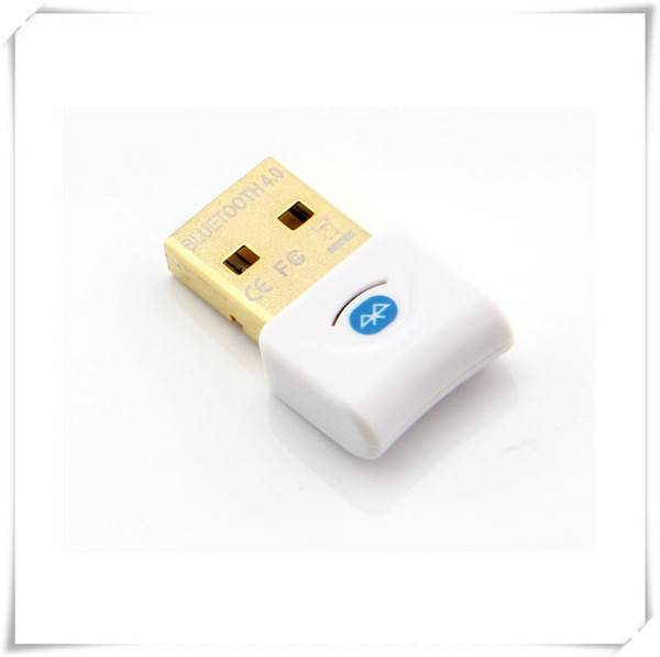 New arrival White CRS4.0 USB2.0 mini bluetooth adapter for PC/laptop Headset Speaker