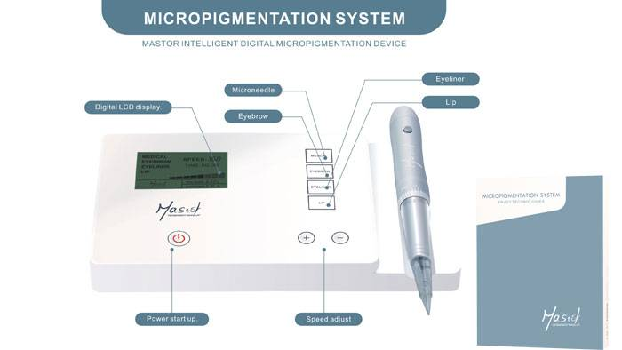 Mastor intelligent digital micropigmentation permannent make up machine