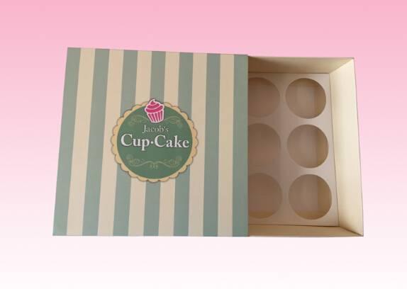 custom Luxury paper cupcake box