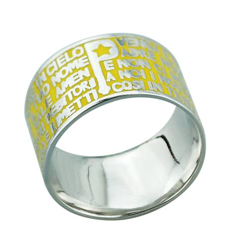 2015 Manli the latest yellow Round-shaped Bible Rings
