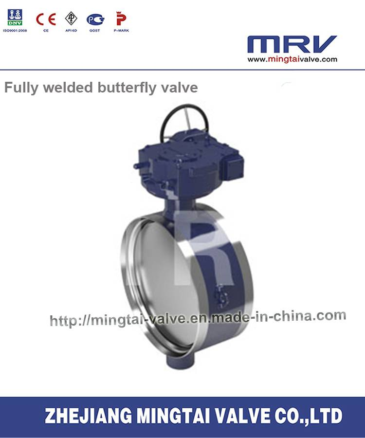 API Drive Fully Welded Butterfly Valve