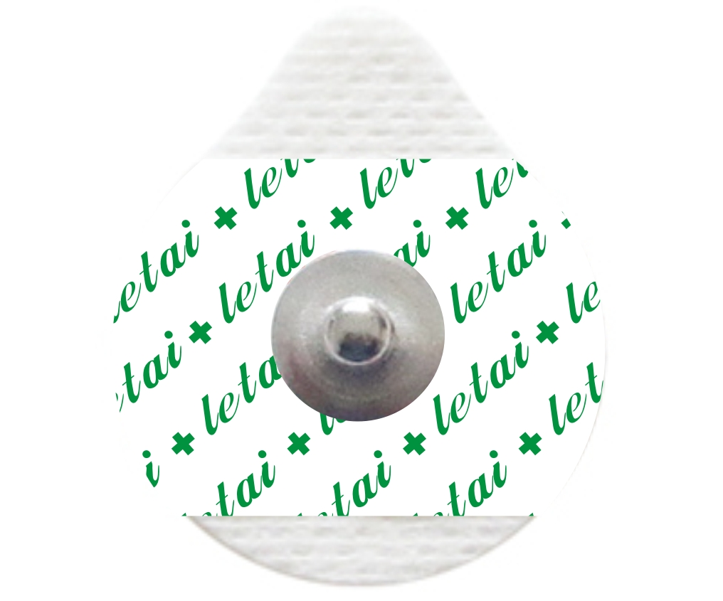 Droplike solid gel non-woven snap button ECG monitoring electrodes