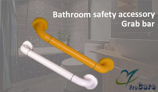 Wall mounted hospital nursing bathroom safety protection nylon grad bar handgrip
