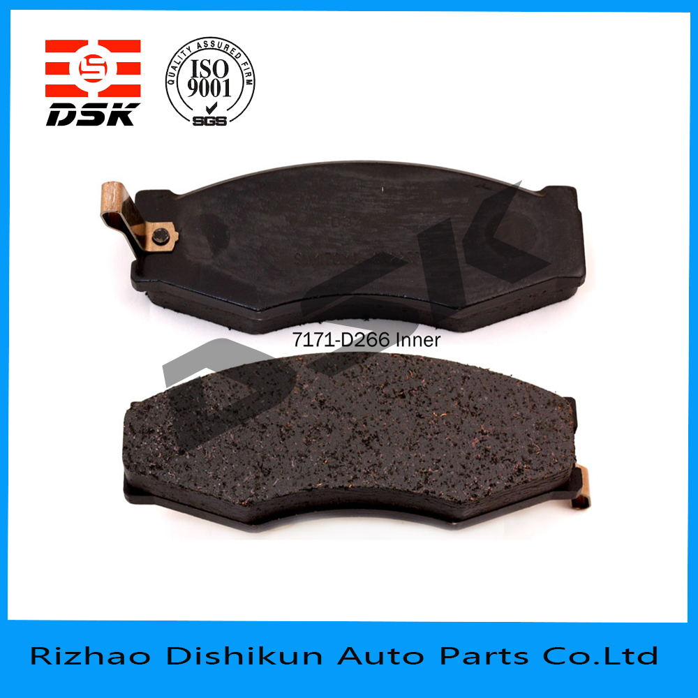 high quality and low noise auto part brake pad 7171-D266