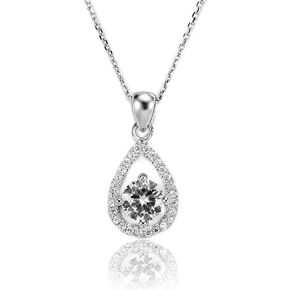 Pure Handmade Necklace China Wholesale Necklace Prong Setting Necklace with AAA Cubic 925 Sterling S