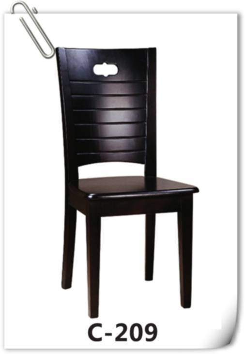 Solid Wood Restaurant Chair C-209