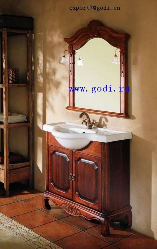 antique solid wood bathroom cabinet GM10-08