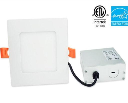 ETL 6 inch Square LED panel light