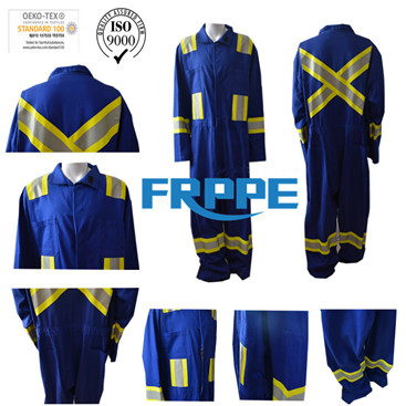 Hi Vis Safety Inherent Fr Clothing For Man/Women Lineman With Protective Reflective Tape