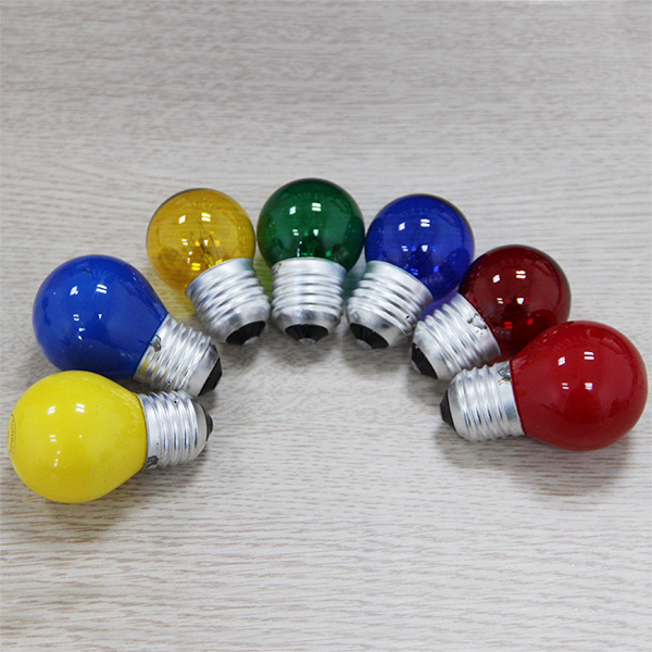 Colorful G45 incandescent bulb