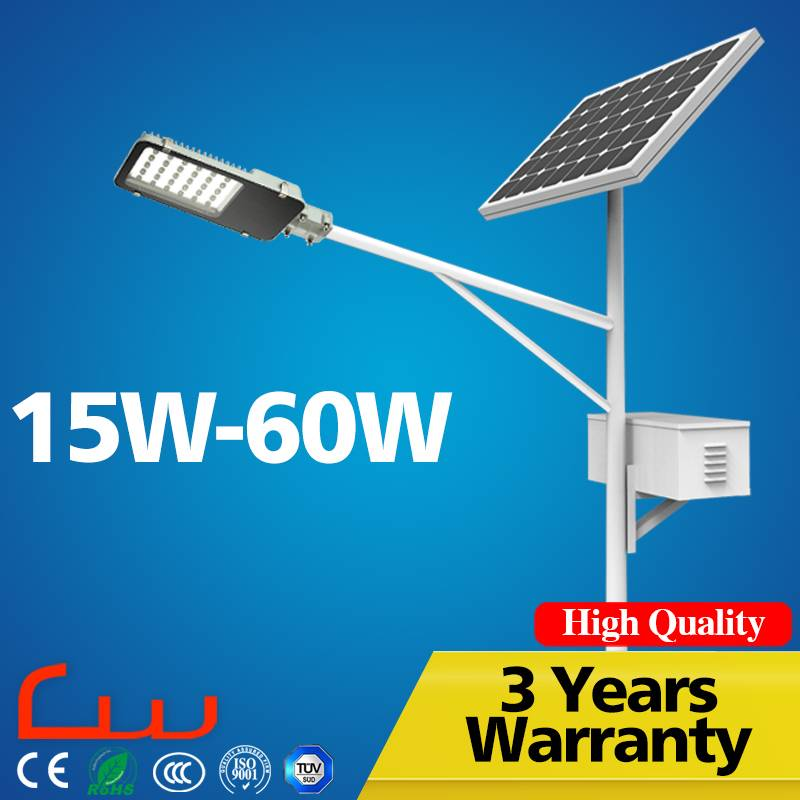 Excellent quality durable material 15W -60W solar LED street light price for high way