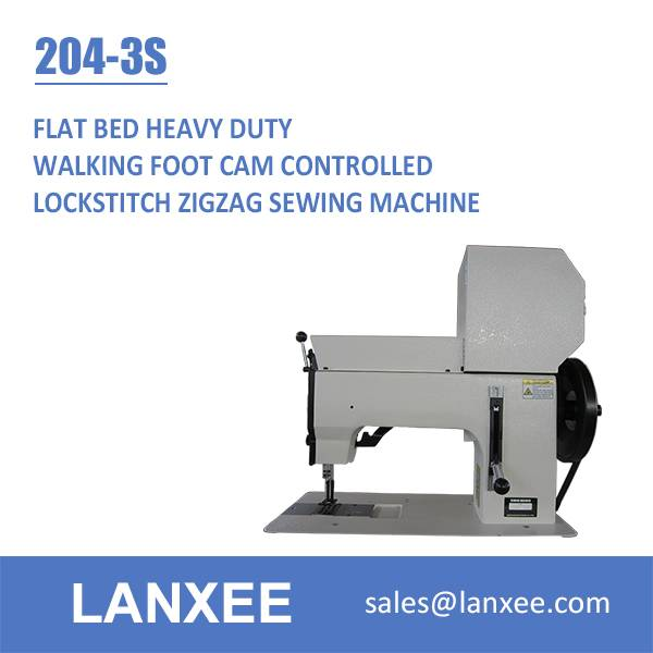 Lanxee 204-3S Industrial Heavy Duty Zigzag Sail Repair Sewing Machine