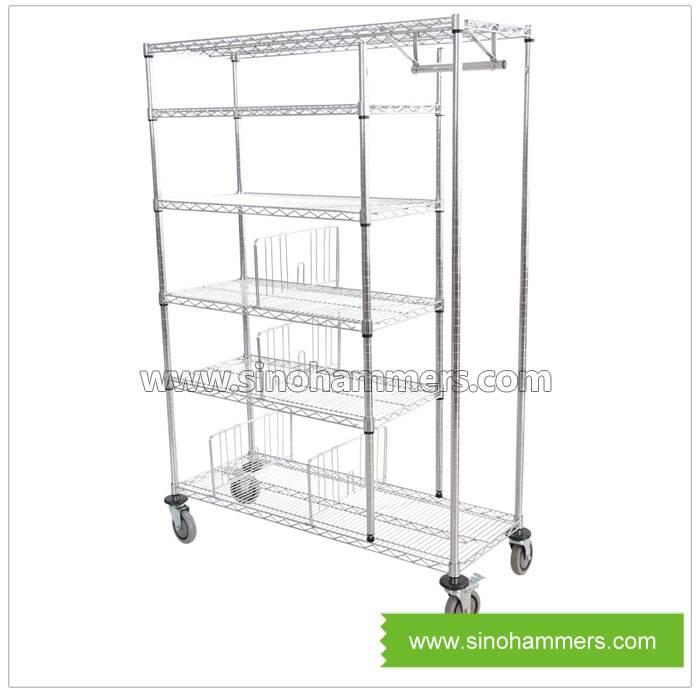 metal wire cloth shelf