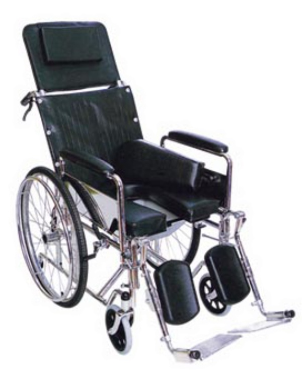 XSG107A Manual Foldable Economic Wheelchair with Chrome Frame