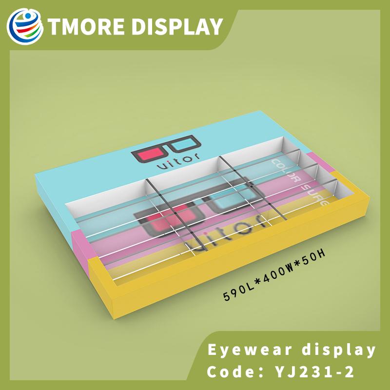 frame glasses display tray