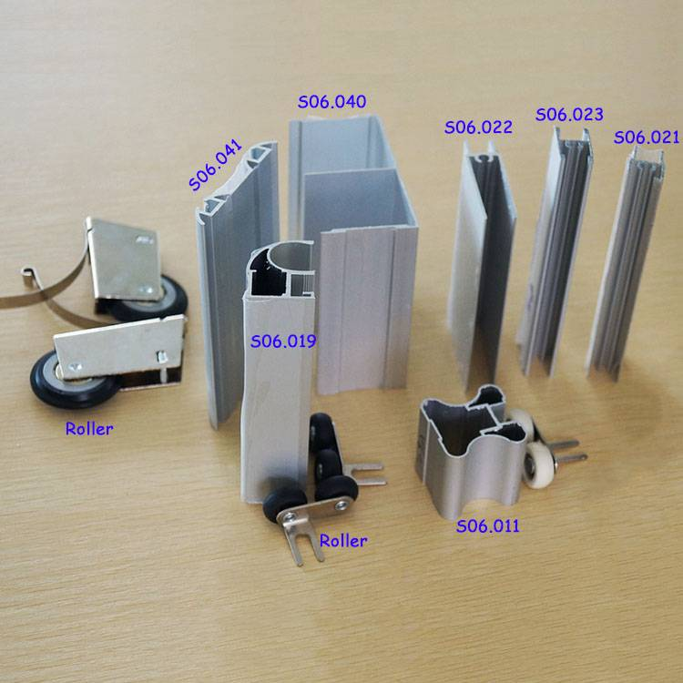 Aluminum Sliding Wardrobe Door Profiles