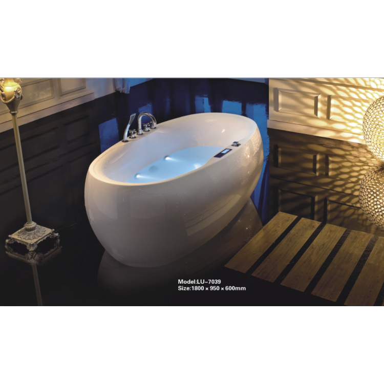 Massage big size jacuzzi bathtub 0262-LU-7039