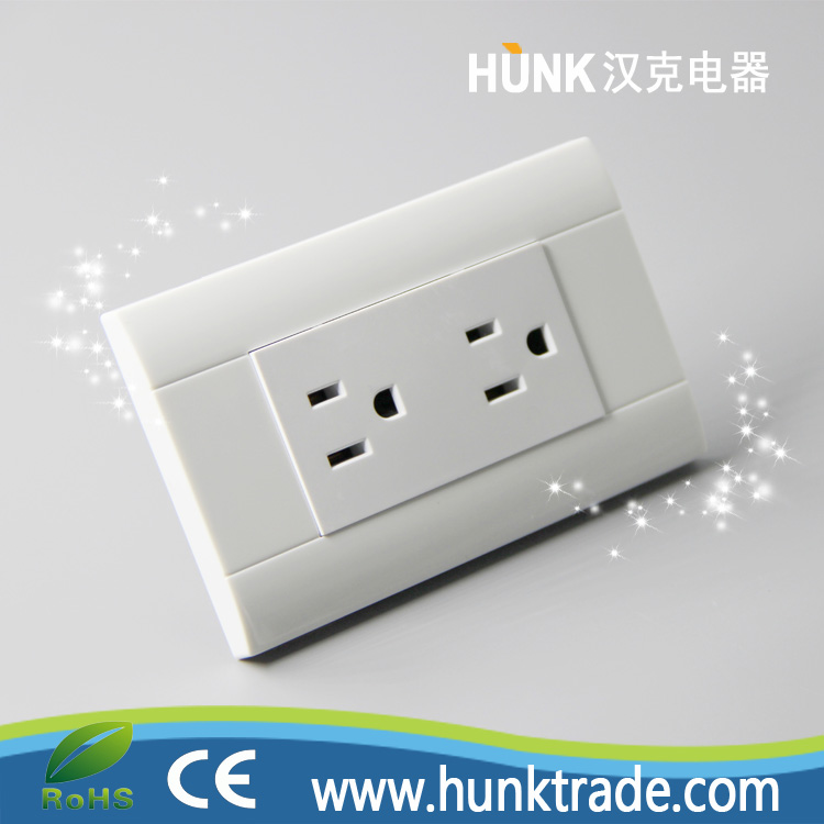 UL type PC Panel Material TOMACORRIENTE DOBLE duplex Grounding switch socket