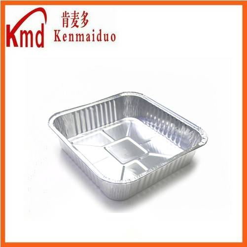 2015 New mold food packing square shape aluminum foil pisa tray