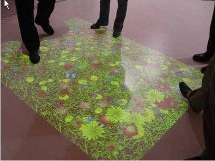 Floor Interactive Projection System HIwod touch