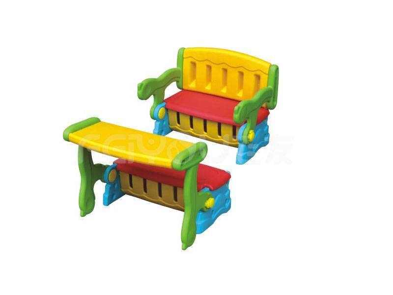 Small playground plastic chair set for kids FY826406
