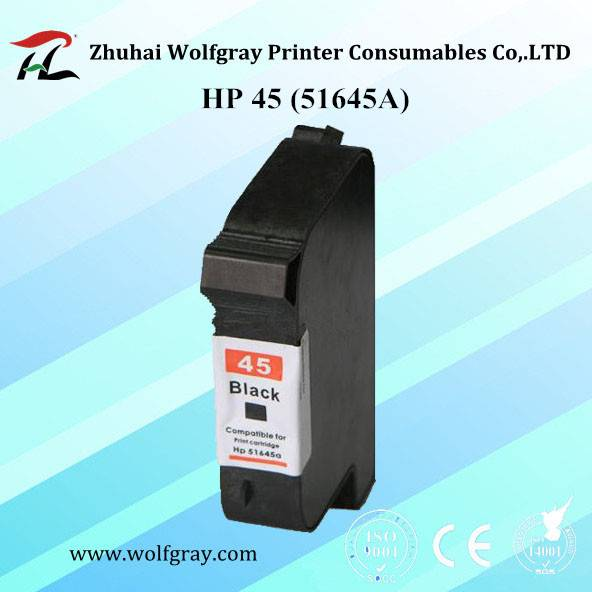 Compatible HP 45A 51645A black ink cartridge