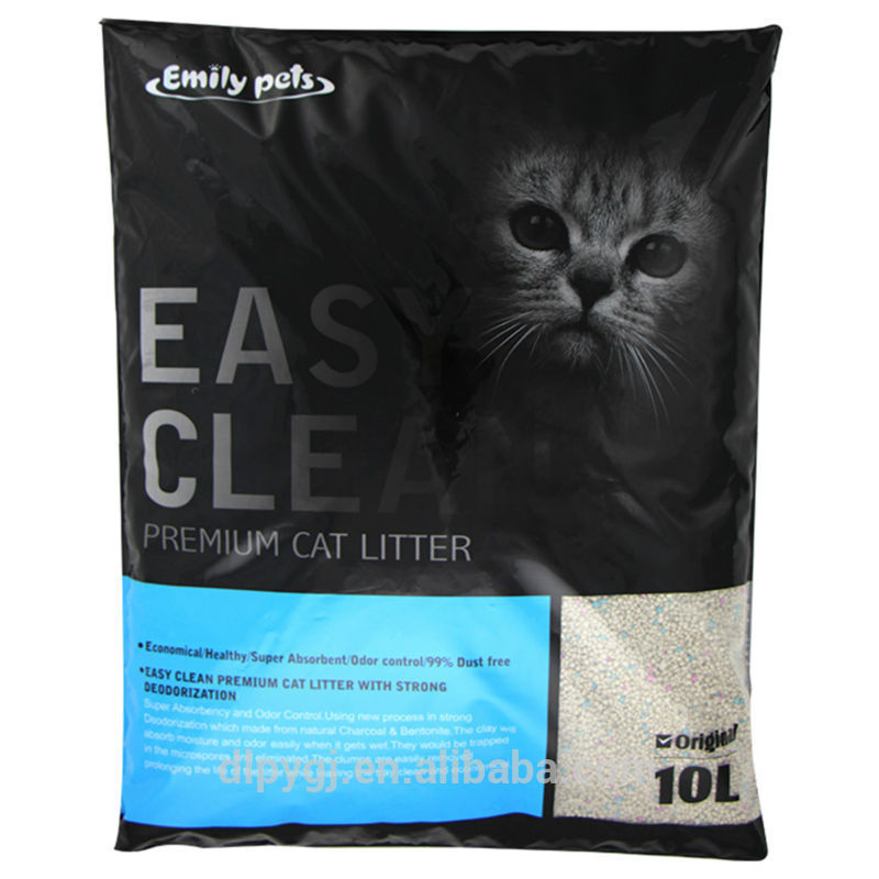 bentonite sand factory supply quick clumping round shape cat litter
