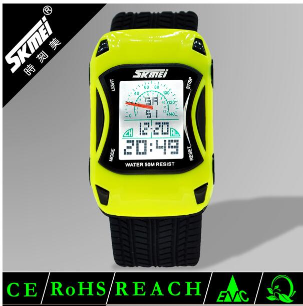 kids car model colorful cheap price skmei digital watches for kids