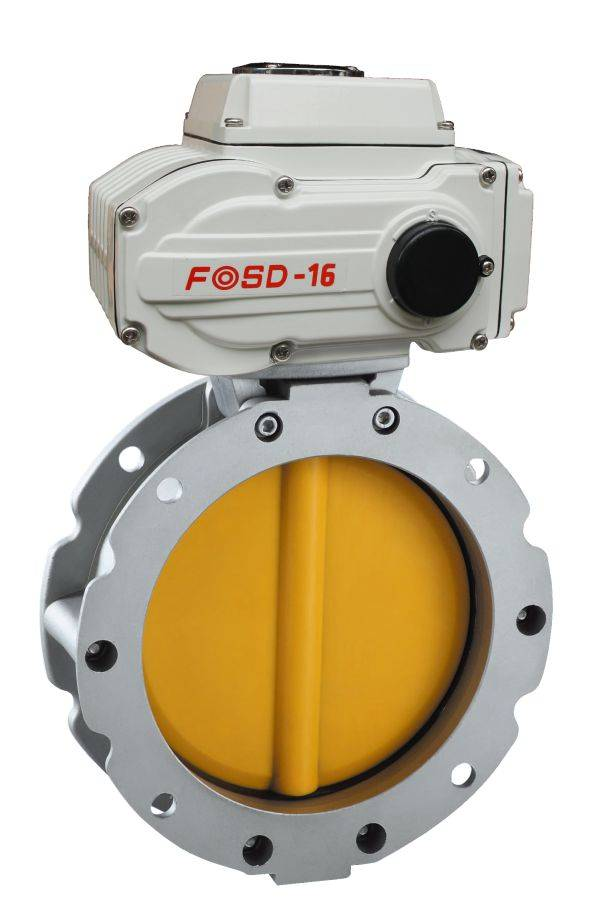 Electric Powder Butterfly Valve with Full Sizes