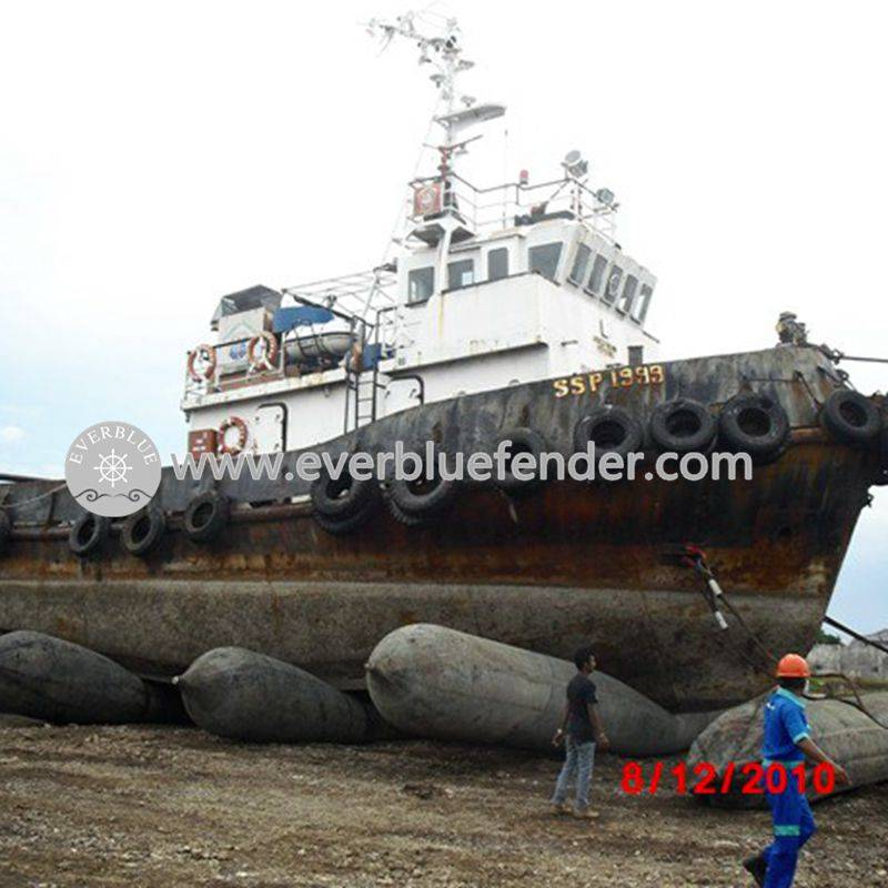 inflatable pneumatic rubber airbag/marine ship launching airbag