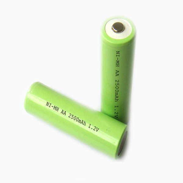 1.2V NIMH rechargeable batteries AA 2500mah