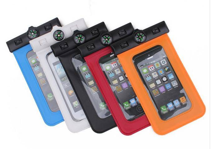 waterproof phone bag passed IPX8 with compass