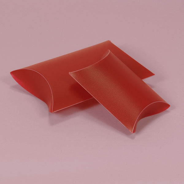 PP frosted pillow box