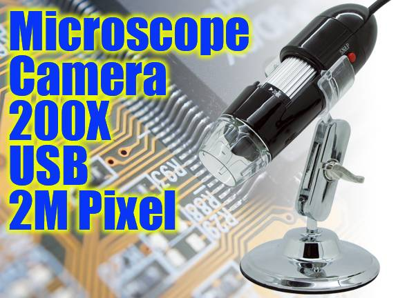 Usb Digital Microscope 200X 2M pixels wholesale