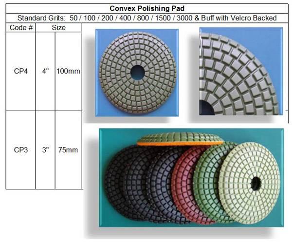 Contour Convex Polishing Pad