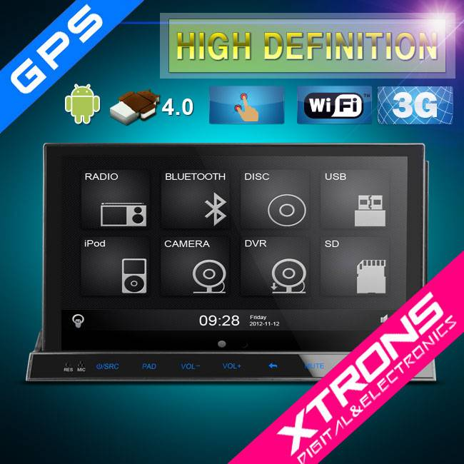 7'' Android 4.0 Multi-touch Screen 3G HD Detachable Two Din Car PC