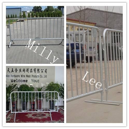 crowd control barricade/ steel barrier/Pedestrian Barrier/crowds stopper barricade