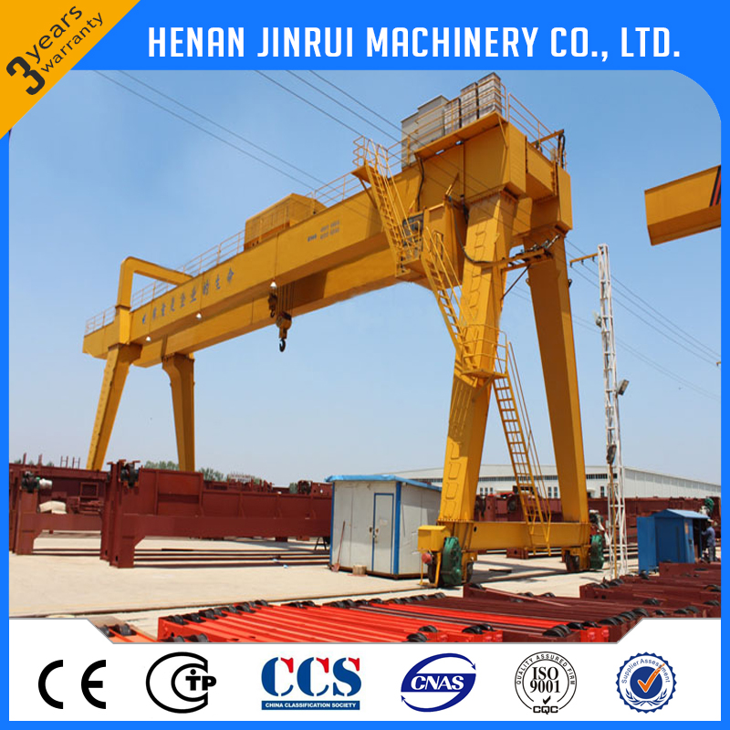 Traveling double beam gantry crane with electric trolley