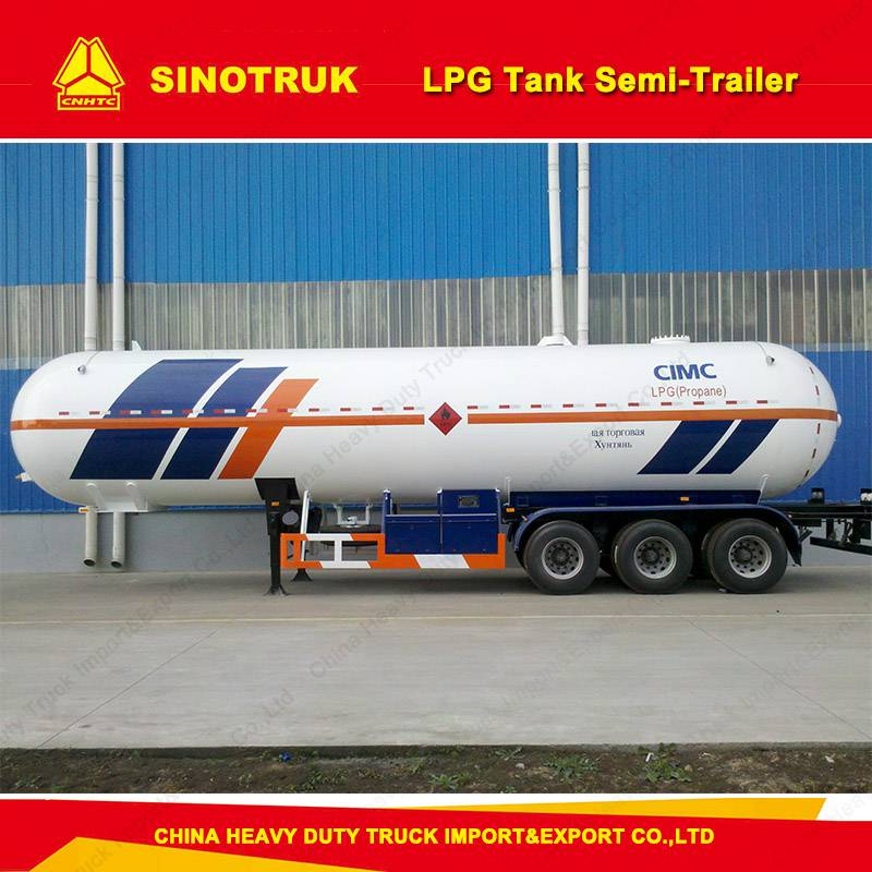 Three Fuwa/BPW Axles 50, 000L LPG Gas Tank Semi-Trailer