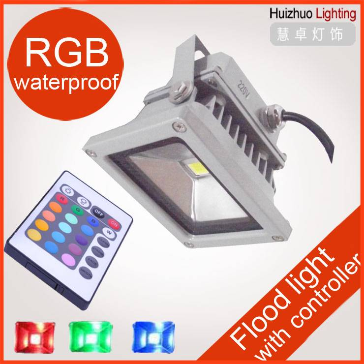 led flood light 10W RGB color changing outdoor light, Water-proof IP 65 led street light