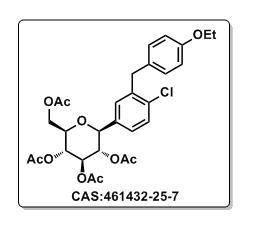 Dapagliflozin Intermediate CAS#461432-25-7 acetic acid (2R,3R,4R,5S,6S)-3,4,5-triacetoxy-6-[4-chloro